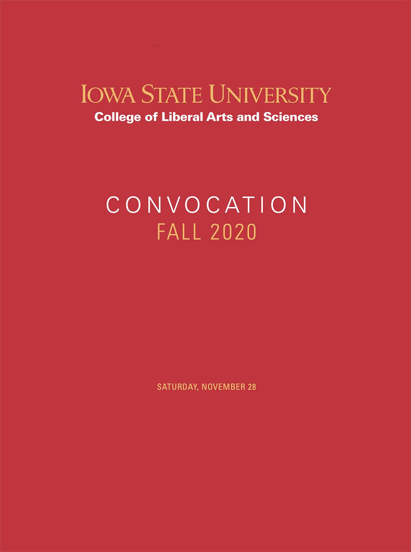 2020 Convocation Program